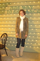 thrifted BB Dakota coat - Lee Kohls jeans - Sketchers boots - Target scarf