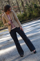 Loft pants - Old Navy cardigan - Consignment org limited blazer - Loft shoes - s