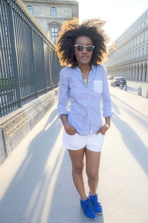Isabel Marant shoes - Zara shirt - H&M shorts - rayban glasses