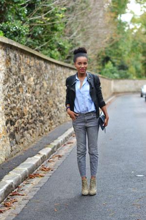 Zara jacket - asos boots - asos jeans - Zara shirt - balenciaga bag