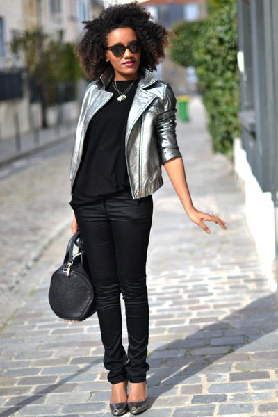 H&M jeans - SANDRO jacket - Alexander Wang bag - asos t-shirt