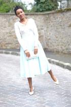 vintage skirt - Chanel flats - MAX & MOI cardigan