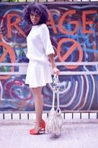 Zara pumps - Yves Saint Laurent bag - H&M skirt - Zara top