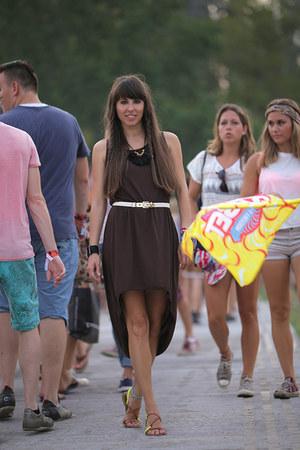 Látomás dress - Látomás belt - new look sandals