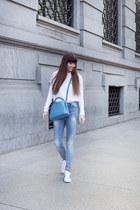 Gas jeans - Gas sweater - Louis Vuitton bag