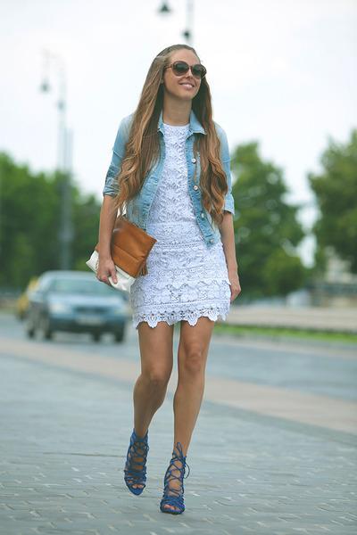 2aaf0b7c9c6 GAS Jeans - Lace dress with denim jacket