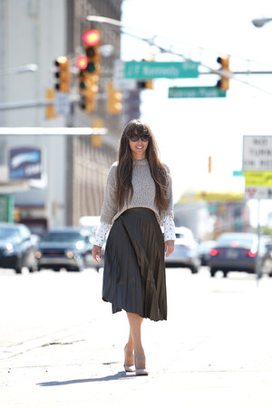 Marks and Spencer skirt - Marks and Spencer sweater - Marks and Spencer heels
