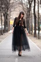 Navona Fashion skirt - Navona Fashion bodysuit - Mango heels