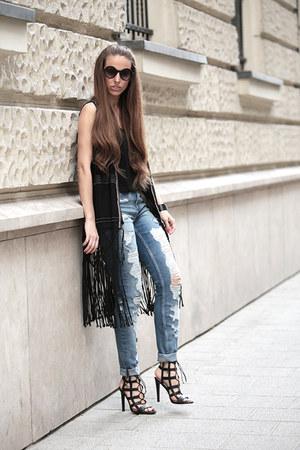 H&M jeans - H&M vest - H&M top - Zara heels