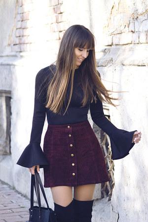 H&M bag - Stradivarius skirt - Nanas top