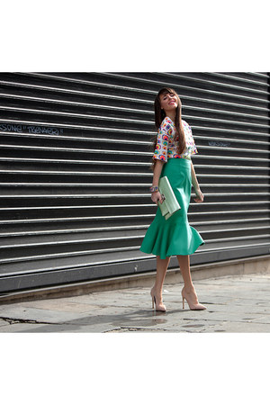 Cango & Rinaldi bag - Navona Fashion skirt - cukovy top - FreyWille bracelet