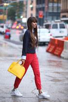 Gant sweater - Louis Vuitton bag - Gant pants - adidas stan smith sneakers