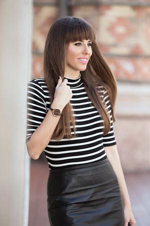 calvin klein watch - Zara sweater - H&M skirt
