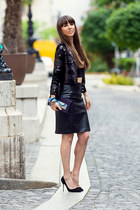 FreyWille accessories - Mango jacket - Manolo Blhanik heels - H&M skirt
