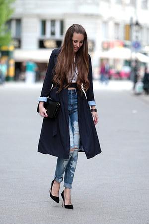 Zara coat - H&M jeans - Manolo Blahnik heels