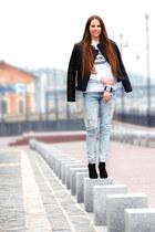 Bershka boots - Zara jeans - Mango jacket