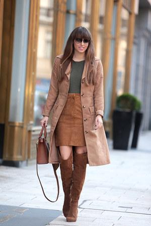 SUEL sweater - H&M coat - calvin klein bag - H&M skirt