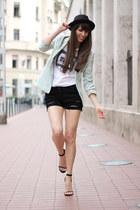Bershka jacket - Mango shorts - FESTYshop t-shirt