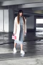 Mango coat - Furla bag - Adidas Superstar sneakers - Stradivarius skirt