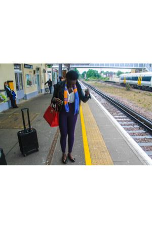 Zara jacket - Hermes scarf - American Apparel pants - Primark blouse