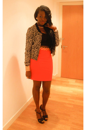 Zara jacket - Boohoo top - H&M skirt - asos belt - Zara sandals