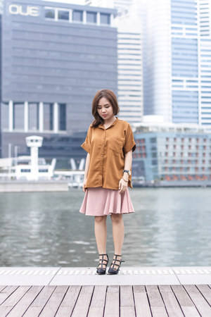 tory burch shoes - ats the label shirt - handmade skirt