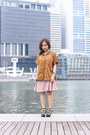 Black-tory-burch-shoes-brown-ats-the-label-shirt-pink-handmade-skirt