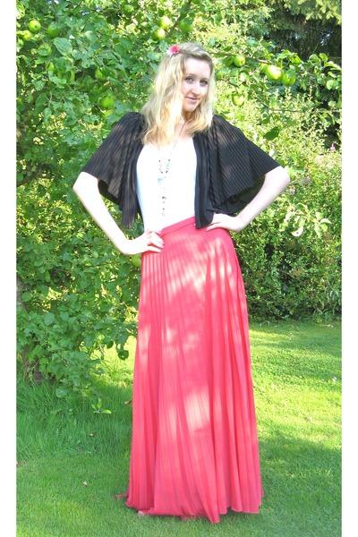 skirt - cardigan - top - sandals