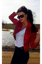 red Mango jacket - black seppala jeans - black New Yorker sunglasses