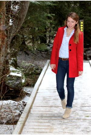 red Costa Blanca coat