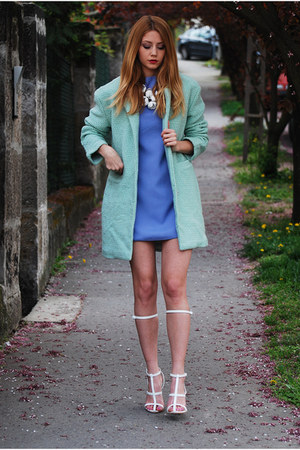 sky blue pastel PERSUNMALL dress - aquamarine pastel Choies coat