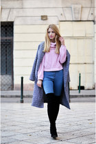 black Jessica Buurman boots - gray beginning boutique coat