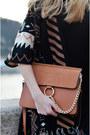 Black-midi-bershka-dress-bronze-chain-jessica-buurman-bag