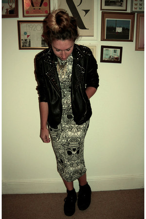 leather studded Goldie London jacket - creepers Ella Tino Boutique shoes