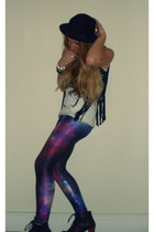 galaxy BlackMilk leggings - lita boots Jeffrey Campbell shoes