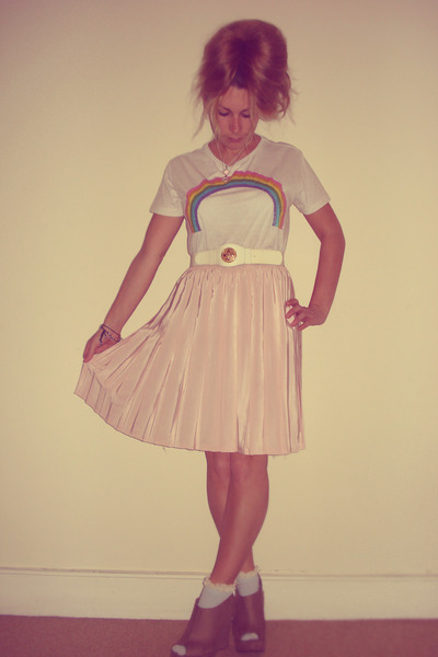 rainbow Topshop t-shirt - new look shoes - Topshop socks
