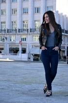 Zara jeans - Mango jacket - Zara flats