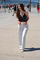 Zara top - Mango pants - Converse sneakers