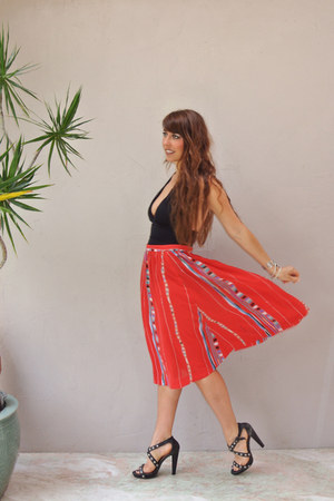 Aztec print highwaist skirt skirt