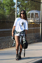 black Chanel boots - black Alexander Wang bag - black Chanel glasses