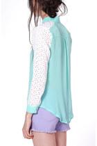 Crochet Sleeve Flauntcc Blouses