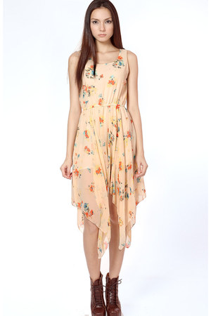 peach Flauntcc dress