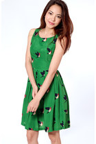 green Flauntcc dress