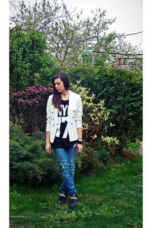 Zara jeans - H&M jacket - Bershka t-shirt