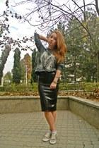 Topshop skirt - pull&bear blouse - H&M sneakers