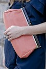 Light-orange-asos-bag-navy-silky-urban-outfitters-jumper