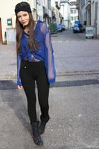 American Apparel bodysuit - H&M blouse