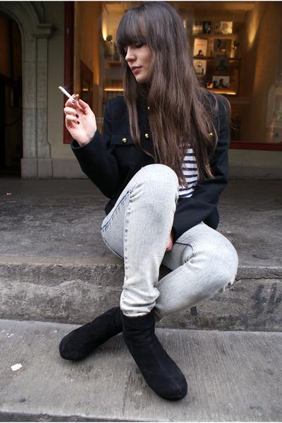black military jacket H&M jacket - heather gray Cheap Monday pants