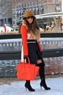 Sam-edelman-boots-zara-dress-lulus-coat-gap-hat-celine-bag