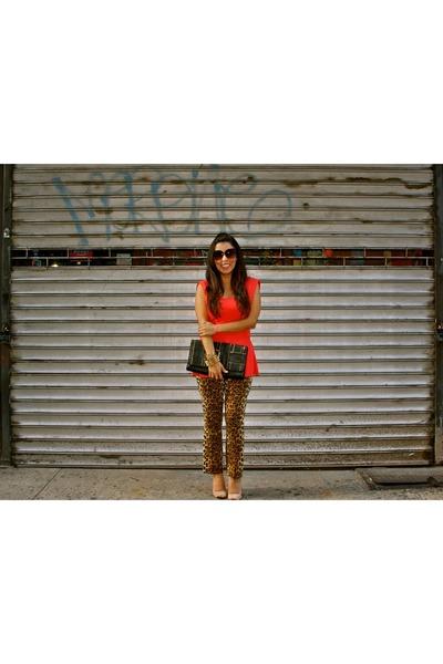 Zara shoes - leopard Zara pants - Zara top